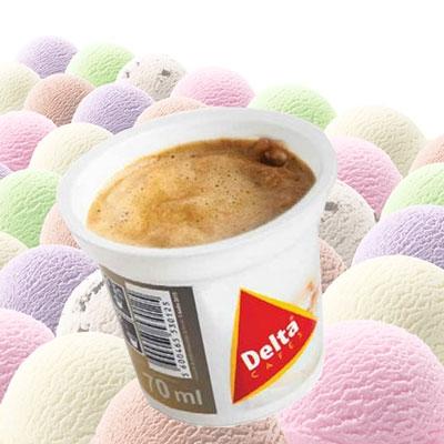 Firmen eis mit bedrucktem becher als giveaway werbeartikel sonderanfertigungen foxx merch gmbh - Weihnachtskugeln cappuccino ...